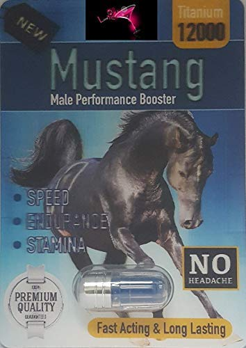 BLACK  MUSTANG 12000 Male Enhancement Pills (12+12 BIG HORN MIXXX) PLUS LOVE POTION PEN (Performance Pill Enhancement Male)