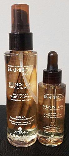 (Alterna Bamboo Kendi Dry Oil Mist 4.2 Oz And ALTERNA BAMBOO Smooth Pure Kendi Oil Pure Treatment Oil, 1.7 fl oz)