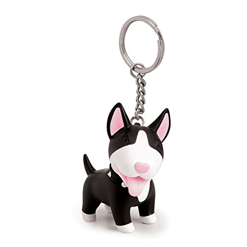 Cute Dog Key Chain - PVC Stainless Steel Anti-lost Key Chain Keychain Ring Keyring Keyfob Key Holder Student Kids for Birthday Party Friendship Festival Decoration, (Bulldog Keychain Holder)