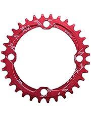 Bicicleta Estrecho Plato, 32/34/36/38T BCD 104mm BCD para Bielas de Bicicleta Cadena Redonda Diseño Estrecho y Ancho(38T-Red)