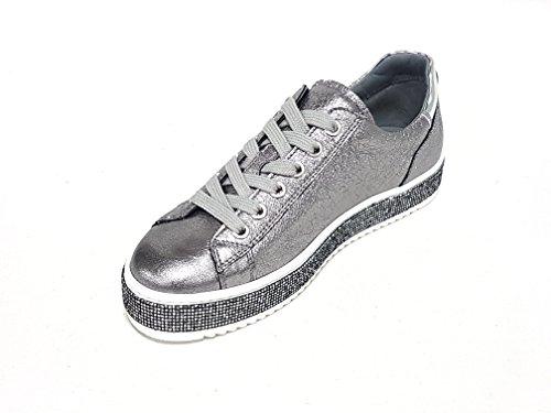 Nero 806670 39 EU sneakers donna Giardini 115 acciaio ZZHq1