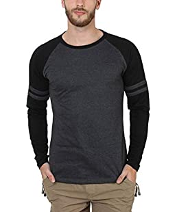 SAYITLOUD Solid Men Round Neck Tshirt(33SOLIDBLACKMELANGEBLACK-XXL_XX-Large)