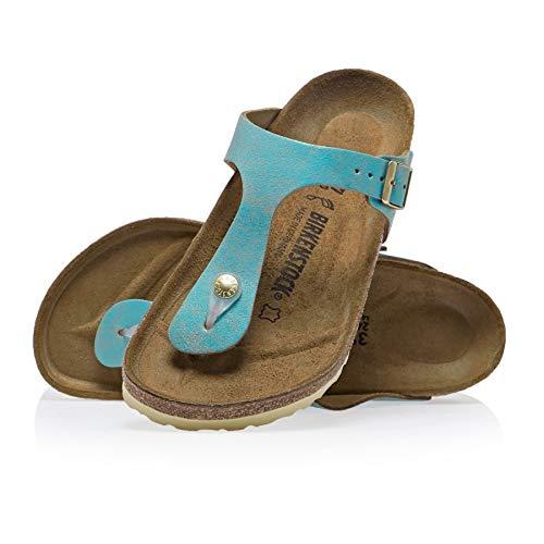 Birkenstock Unisex Gizeh Suede Aqua Sandals 8 W / 6 M US