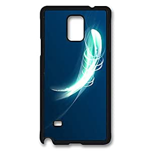 VUTTOO Rugged Samsung Galaxy Note 4 Case, Abstract Glowing Shape Spin Case for Samsung Galaxy Note 4 N9100 PC Black