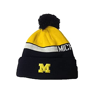 adidas Michigan Wolverines Cuffed Pom Hat