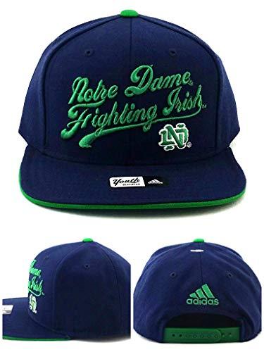 adidas Notre Dame Fighting Irish New Youth Kids Blue Green Snapback Era Hat ()