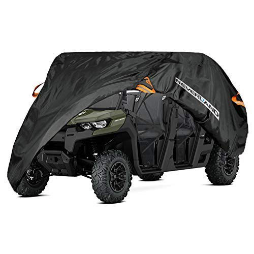 (NEVERLAND 300D Oxford Fabric Waterproof Utility Vehicle UTV Cover Black w/Storage Bag For Polaris RZR Ranger Crew Kawasaki Can-Am)