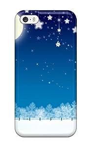 Rachel Kachur Bordner's Shop High Quality Christmas Moon Case For Iphone 5/5s / Perfect Case