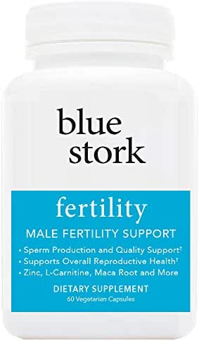 Blue Stork Fertility: Male Fertility Support, for Sperm Production, Reproductive Health + More, 60 Vegetarian Capsules