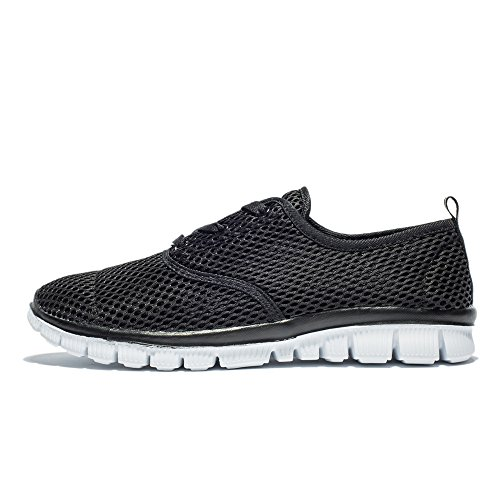 Women's 18009 Shoes Casual Sneakers Lightweight Running Men's Breathable black Saibhreas Mesh 5qOBp1UUz