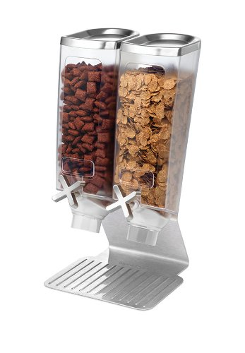 Rosseto EZ514 2-Container Snack Dispenser with Stainless Steel Stand by Rosseto