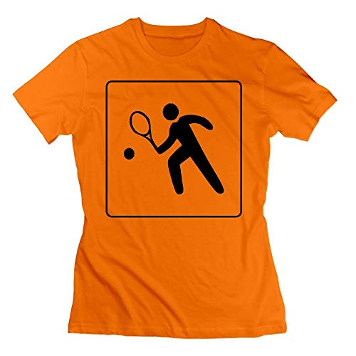 32 Hotel Icon Has Tennis Court Womens Tshirts Orange