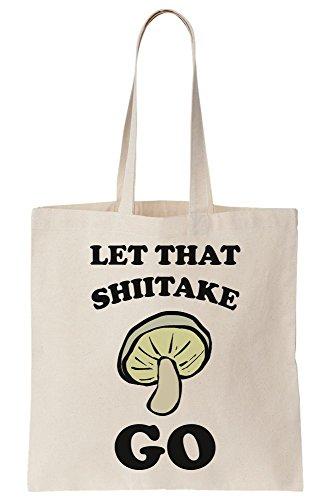 Bag Go Mushroom That Shiitake Tote Artwork Let Canvas xBfwa6g6q