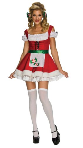 Secret Wishes Christmas Candy Costume, Red/White, Medium (Make A Wish Costumes)