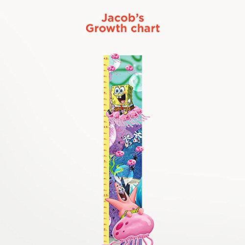 SpongeBob SquarePants Personalized Growth Chart Wall Decal for Kids Room
