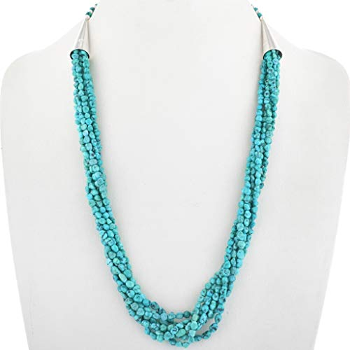 Navajo Turquoise Seven Strand Necklace Small Nuggets 0526 ()