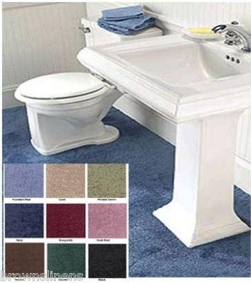 Wall To Wall Bathroom Carpet, 5' X 6' Peridot Sage Green