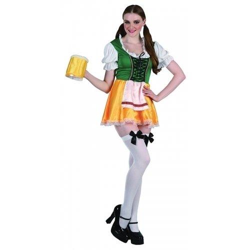German Beer Lady Lederhosen Fancy Dress Costume (US 8-12) (Ladies Lederhosen Fancy Dress)