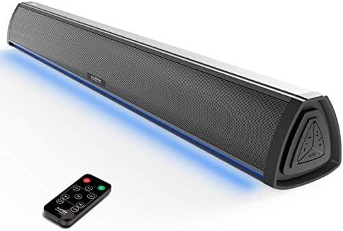 Barra de Sonido TV con Bluetooth, Altavoces Barras para Television, Videojuegos, Música, Soundbar Home Cinema, Oficina y PC con Control Remoto: Amazon.es: Electrónica