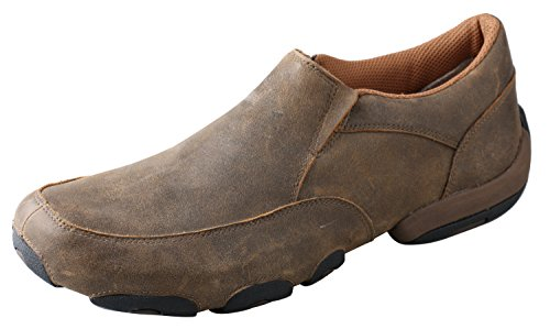 Twisted X Men's Slip-On Driving Moccasins Bomber/Bomber - Casual Walking Leather Footwear 9.5D US