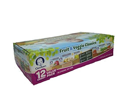 Gerber Assorted Vegetables Variety 12 2 5oz
