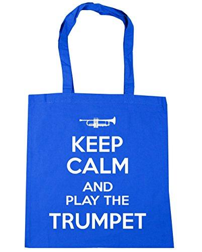 Cornflower Play Trumpet Beach Gym 42cm and litres Keep HippoWarehouse Blue 10 x38cm Tote Calm the Shopping Bag XTqtwWZcn