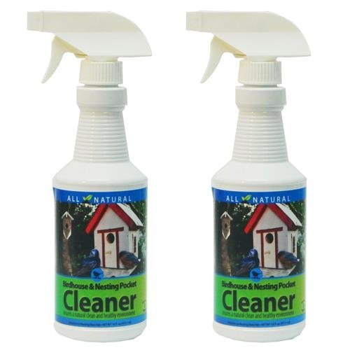 Care Free Enzymes 2-Pack Birdhouse, Nesting Pocket & Gourd Cleaner Spray Bottle 16 oz. by Care Free Enzymes