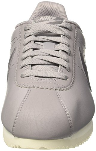 Nike Womens Classic Cortez Leather Casual Shoe Atmosphere Gray / Gunsmoke Sail