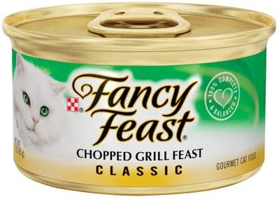 Classic Chopped Grill Feast Gourmet Chicken and Beef Wet Cat Food 3-oz can, case of 24