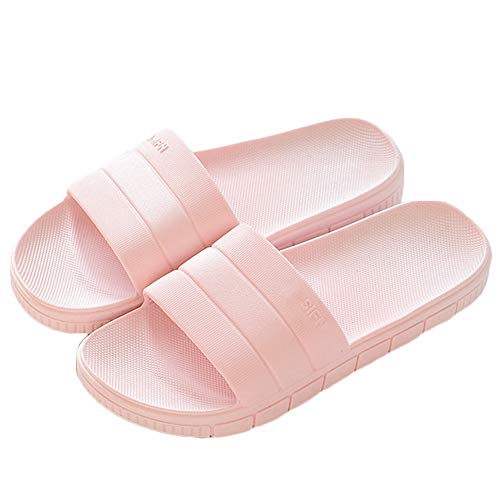 LINE BLUE Women and Men Bath Slipper Anti-Slip For Indoor Home House Sandal,Pink,38.39
