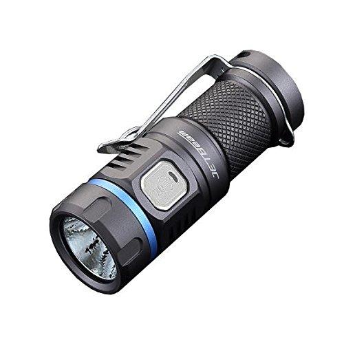 Jetbeam E20R Rechargeable Flashlight -990 Lumens -SST40 N4 BC LED -195 meter Beam Distance