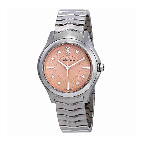 Ebel Wave Grande Pink Galvanic Diamond Dial Ladies Watch 1216303