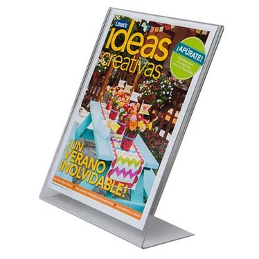 Fox Trading Cards (Clear-Ad - LHA-8511 - Clear Acrylic Slanted Sign Holder 8.5 x 11 - Table Menu Card Display Stand - Plastic Picture Frame in Bulk (Pack of)