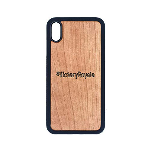 (Victory Royale - iPhone Xs MAX CASE - Cherry Premium Slim & Lightweight Traveler Wooden Protective Phone CASE - Unique, Stylish & ECO-Friendly - Designed for iPhone Xs MAX)