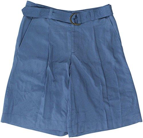 Lauren Ralph Lauren Women's Belted Twill Mid-Rise Shorts Size 12 (Ralph Lauren Belted Belt)