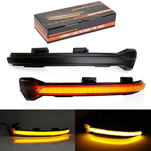 - Mirror Dynamic Turn Signal LED Light Indicator for VW Golf 5/7 MK7 GTI R GTE GTD with Black Shell