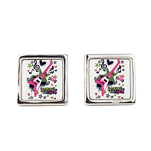 (Cufflinks (Square) Rocker Chick Guitar Treble)