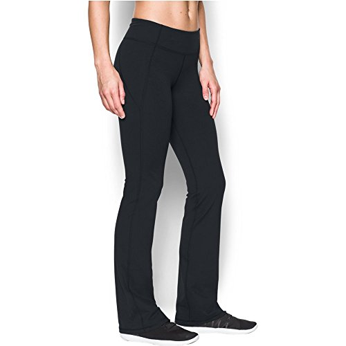 Under Armour Women's Mirror Boot Cut Pant, Black/Gray Area, X-Large (Yoga Pants Under Armour)