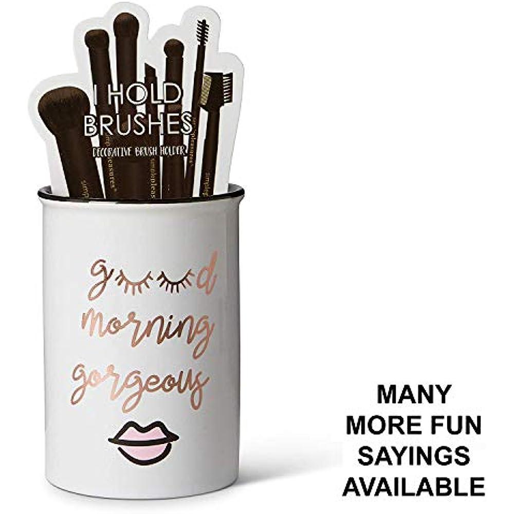 Cosmetic Display Cases Tri-coastal Design Ceramic Makeup Brush Holder Morning Up 1