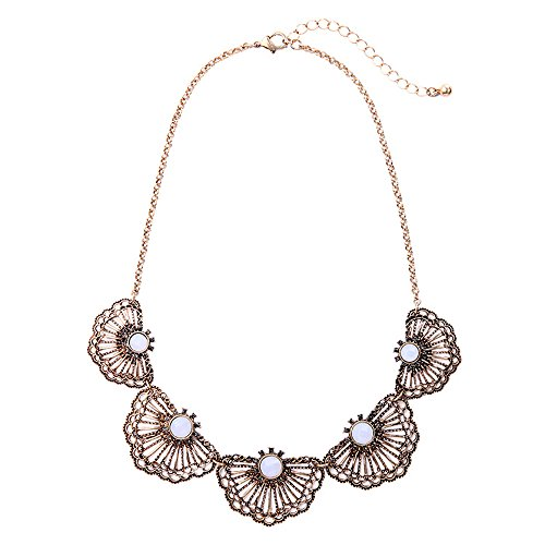 Flower Collar Necklace - 4