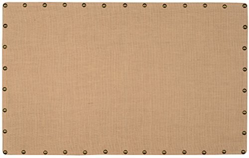 Accented Nailheads - Linon Burlap Nailhead Corkboard - Large