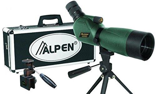 Alpen Optics 20-60x60 w/45 degree eyepiece Waterproof Fogproof Spotting Scope Kit by Alpen Optics