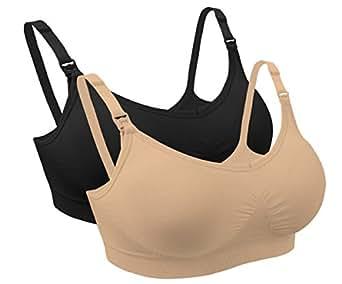 iLoveSIA Women's 2 Pack Maternity Nursing Bra US Size S Fit 32BC 30CD 34AB 36AA 36A