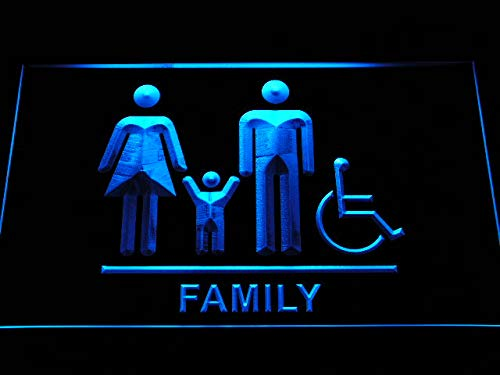 ADVPRO Cartel Luminoso i1034-b Family Toilet Unisex Men ...