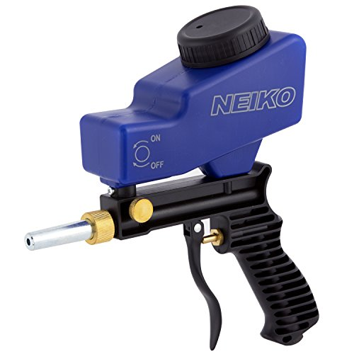 Neiko 30068A Abrasive Air Sand Blaster Handheld Gun | Replaceable Steel Nozzle | Various Media Compatible Gravity Feed Hopper (Soda Blast Abrasive)