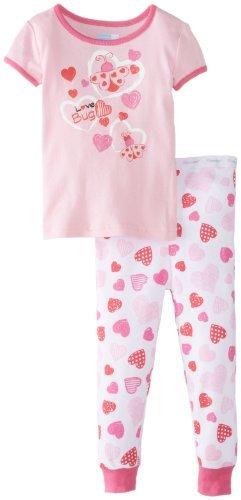 Vitaminas Bebé Baby-Girls infantil Insecto del amor 2 piezas Conjunto de pijama, Rosa