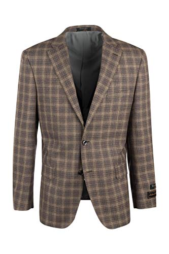 - Tiglio Dolcetto Olive with Purple, Beige Windowpane Modern Fit, Pure Wool Jacket Luxe 92208/3