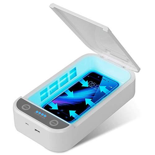 🥇 Kintty Caja de Desinfección UV Teléfonos Celular Caja de Esterilizador UV Para Teléfonos Móviles