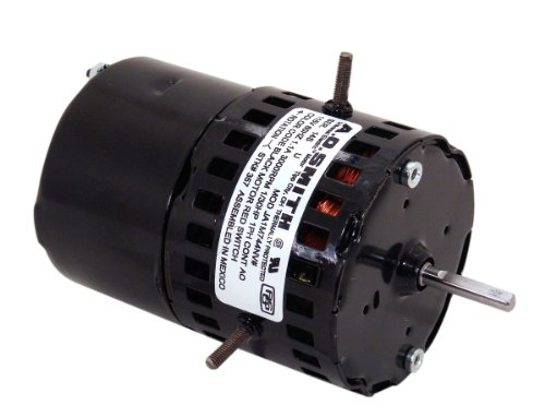 A.O. Smith 357 3.3-Inch 1/30 HP, 3000 RPM, 1.1 Amps, OAO Enclosure, CWSE Rotation, 1/4-Inch by 1-1/2-Inch Shaft Diameter Draft Inducer Motor ()