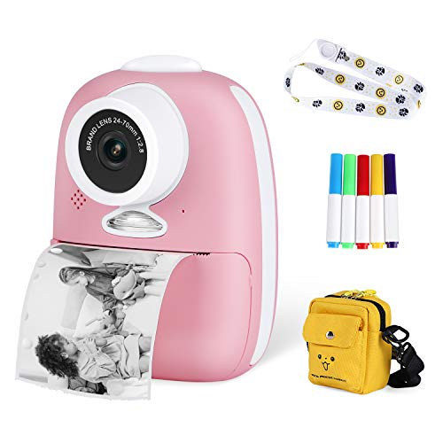 Abdtech Instant Digital Camera for Kids – Double Lens Toys Instant Print Camera Support Selfies Video with Wider Strap…